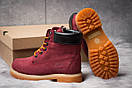 Зимние ботинки  на мехуTimberland 6 Premium Boot, бордовые (30665) размеры в наличии ► [  36 39 40  ], фото 4