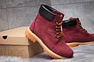 Зимние ботинки  на мехуTimberland 6 Premium Boot, бордовые (30665) размеры в наличии ► [  36 39 40  ], фото 5