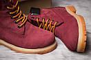 Зимние ботинки  на мехуTimberland 6 Premium Boot, бордовые (30665) размеры в наличии ► [  36 39 40  ], фото 6