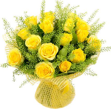 Букет з жовтих троянд «Добрий день»