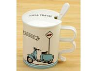 Чашка с крышкой Ideal travel Мопед 88-8714583