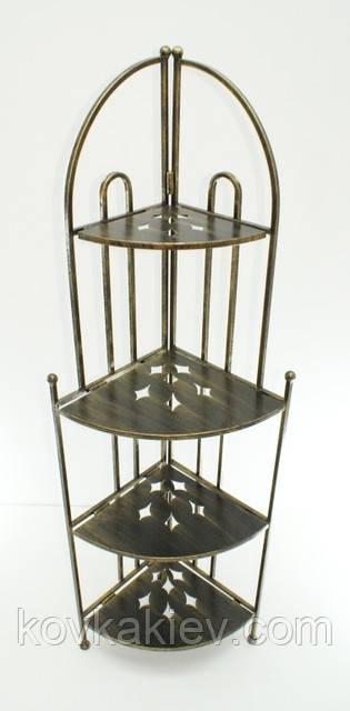 Кованая мебель Этажерка угловая 4., фото 1