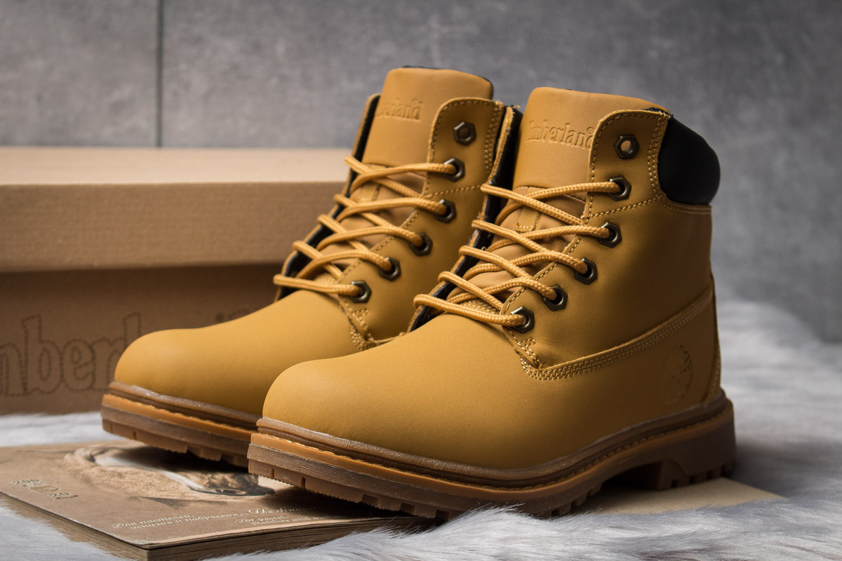 Зимние ботинки  на мехуTimberland Premium Boot, рыжие (30731) размеры в наличии ► [  39 (последняя пара)  ]
