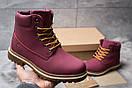 Зимние ботинки  на мехуTimberland Premium Boot, бордовые (30732) размеры в наличии ► [  40 (последняя пара)  ], фото 2