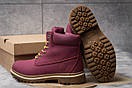 Зимние ботинки  на мехуTimberland Premium Boot, бордовые (30732) размеры в наличии ► [  40 (последняя пара)  ], фото 4