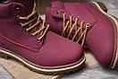Зимние ботинки  на мехуTimberland Premium Boot, бордовые (30732) размеры в наличии ► [  40 (последняя пара)  ], фото 6