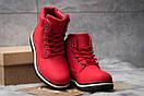 Зимние ботинки  на мехуTimberland Premium Boot, красные (30735) размеры в наличии ► [  39 40  ], фото 3