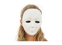 Карнавальная маска белая безликая 184-16179