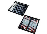 Мини Набор 3в1 шашки нарды шахматы 15 см 115-58016285