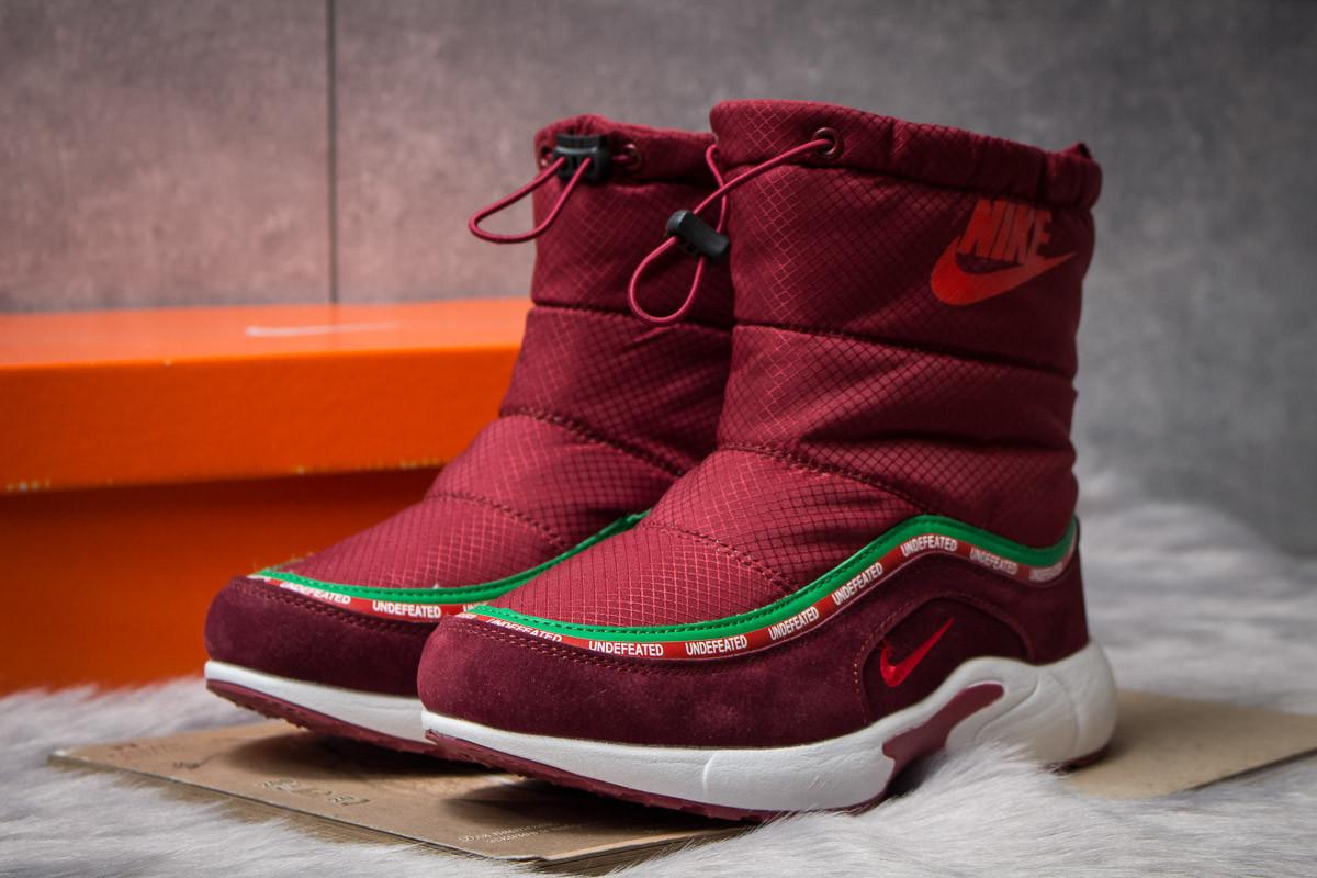 Зимние ботинки  на мехуNike Apparel, бордовые (30632) размеры в наличии ► [  36 (последняя пара)  ]