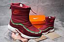 Зимние ботинки  на мехуNike Apparel, бордовые (30632) размеры в наличии ► [  36 (последняя пара)  ], фото 2