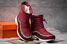 Зимние ботинки  на мехуNike Apparel, бордовые (30632) размеры в наличии ► [  36 (последняя пара)  ], фото 3