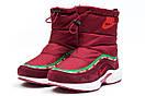 Зимние ботинки  на мехуNike Apparel, бордовые (30632) размеры в наличии ► [  36 (последняя пара)  ], фото 7