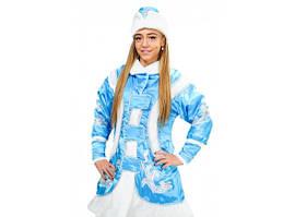 Карнавальный новогодний костюм Снегурочки голубой 444-21516912