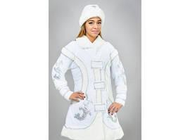 Карнавальный новогодний костюм Снегурочки белый 444-21516913