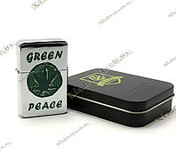 Запальничка бензинова «Green Peace» (Бронза)