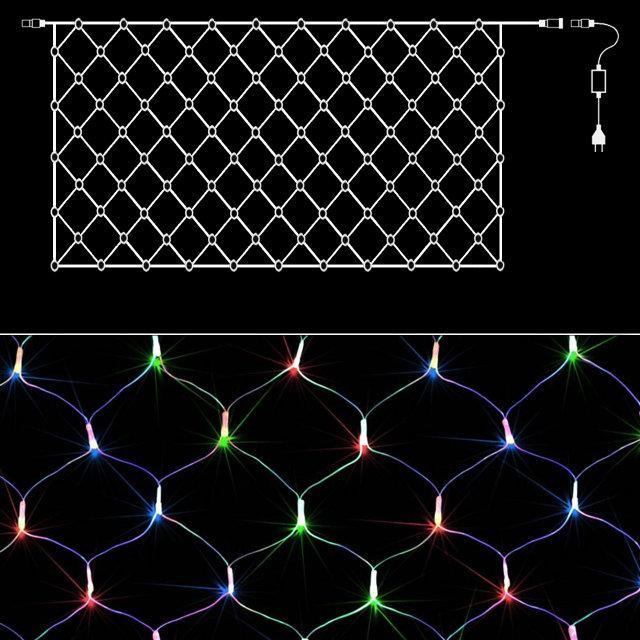 Гирлянда Сетка светодиодная 240, Мультицветная, 3,5 м*0,7 м