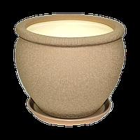 Горшок керамический для пересадки цветов Вьетнам №3 шелк капучино