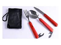 Туристический набор 3в1 ложка, вилка, нож 132-13117947