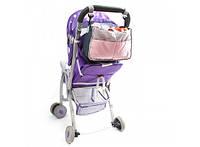 Сумка на коляску для детских вещей и мелочей Светло-розовая