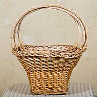 """Подарочная плетеная корзина из лозы """"Роксолана"""" большая 3 шт."""
