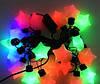 Гирлянда светодиодная большие звезды 20 LED, мультицветная, белый пластик, фото 2