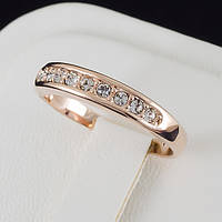 Прелестное кольцо с кристаллами Swarovski, покрытое золотом 0158