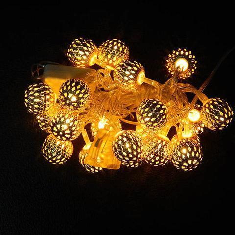 Гирлянда светодиодная сферы золото 30 LED