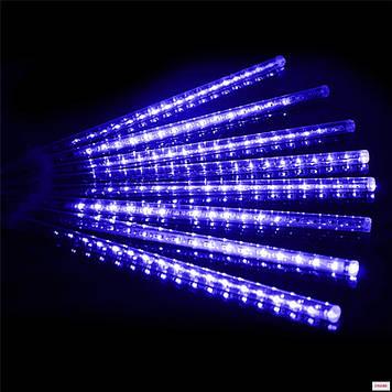 Гирлянда светодиодная сосулька 8 трубок, 50 см, синий