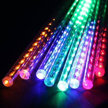 Гирлянда светодиодная сосулька 8 трубок, 50 см, мультицветная