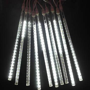 Гирлянда светодиодная сосулька 8 трубок, 50 см, белый