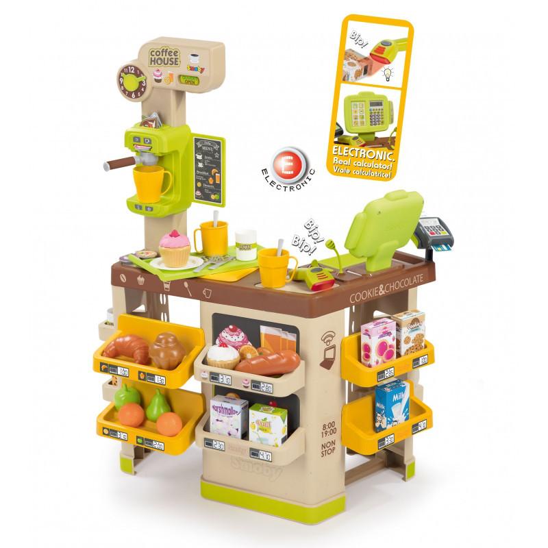 Интерактивная кофейня Toys Coffee House (звук, 63 акс), Smoby  3+ (350214)