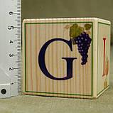 """Деревянные кубики """"Английский алфавит с цифрами"""" (9 шт), фото 2"""