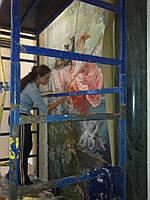 Флуорисцентная художественная роспись стен