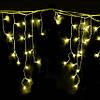 Гирлянда светодиодная бахрома 200 LED уличная, желтая, 10 м, фото 3
