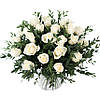 Эффектный букет роз и эвкалипта «Белый фреш»
