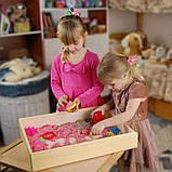 """Деревянная коробка """"Песочница для кинетического песка"""" (5 кг.) большая, фото 4"""