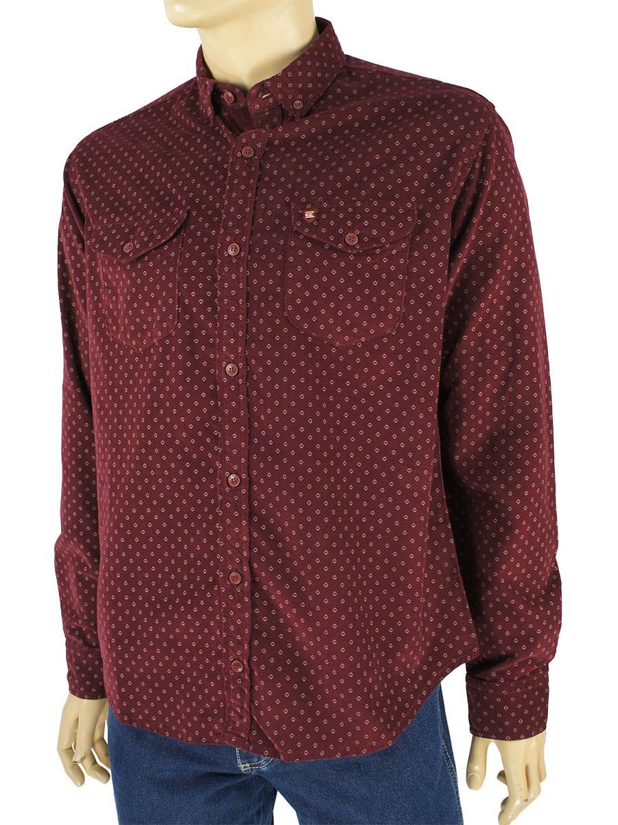 Турецкая мужская рубашка Cordial CO 2059 K27-1005 в бордовом цвете