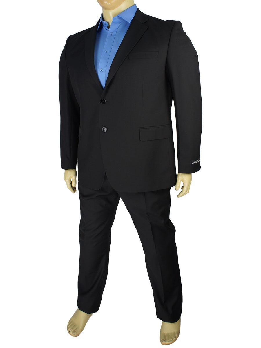 Черный мужской классический костюм Daniel Perry PRS320C black B большого размера