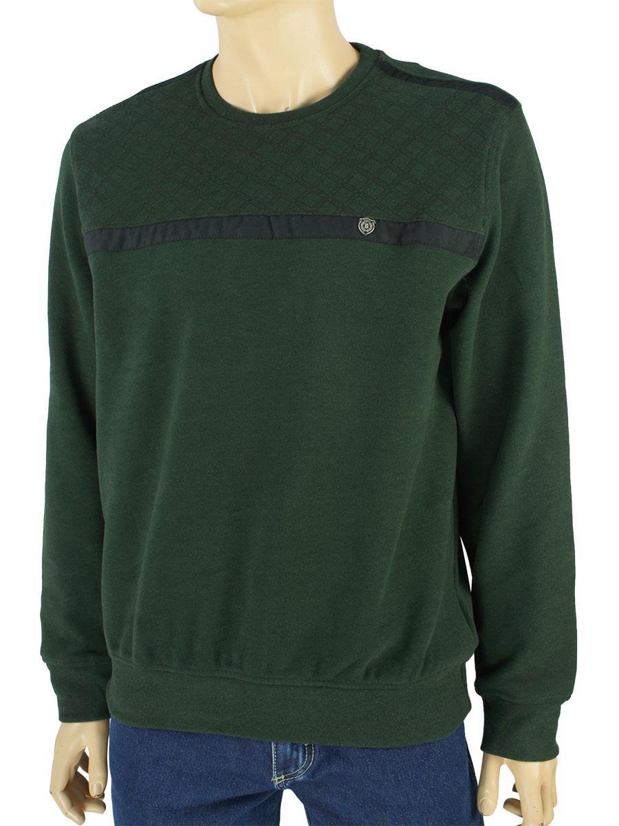 Турецький чоловічий светр Better Life 953 H olive в оливковому кольорі