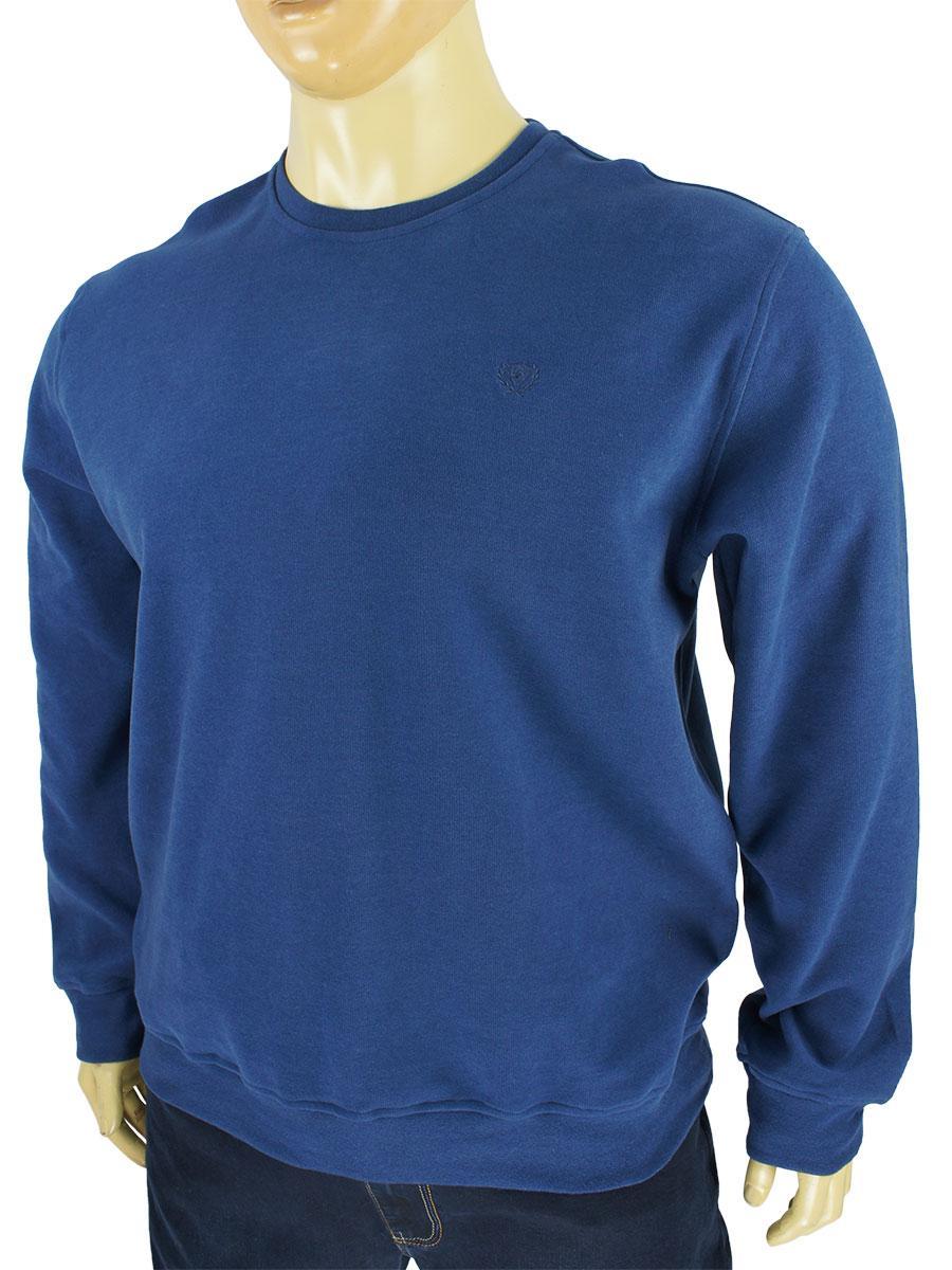 Турецкий мужской свитер Better Life 529 B indigo в большом размере