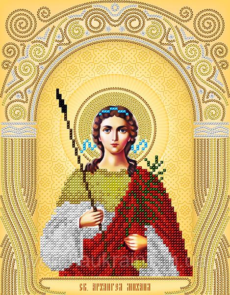 Схема на ткани для вышивания бисером Св.Архангел Михаил. А-строчка