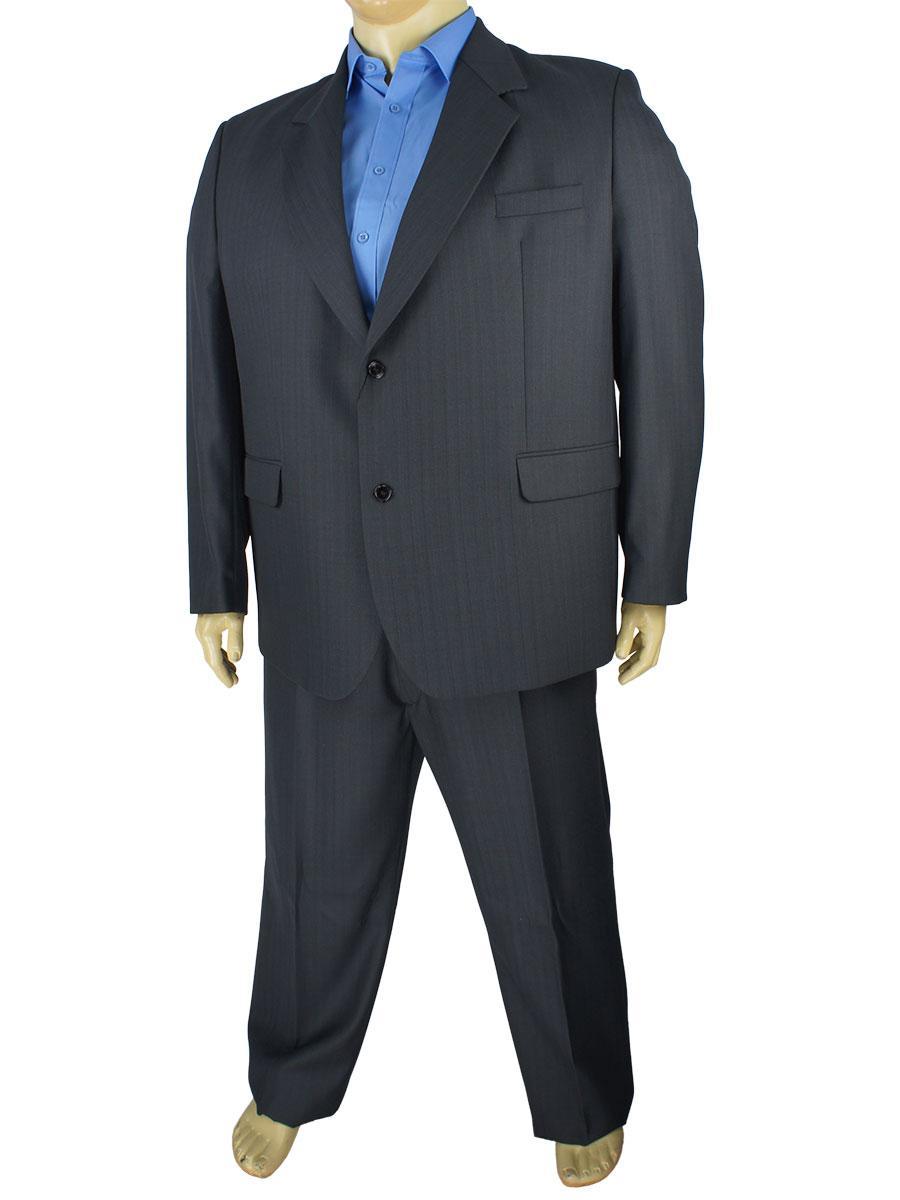 Темно-серый мужской классический костюм большого размера Legenda Class 95#1