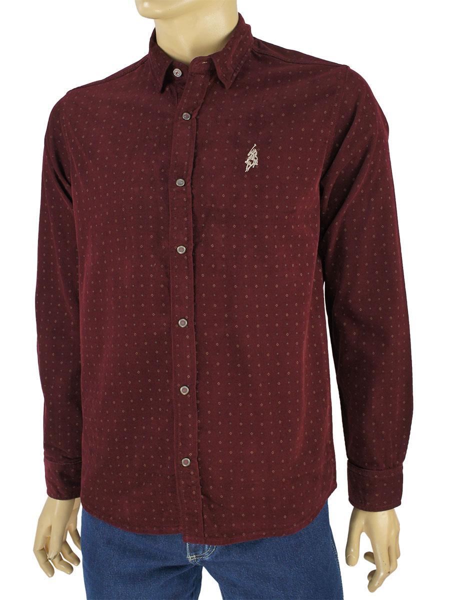 Чоловіча сорочка Class Polo До:27-1004 бордового кольору