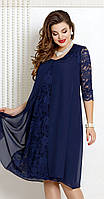 Платье Vittoria Queen-9043/3 белорусский трикотаж, темно-синий, 54