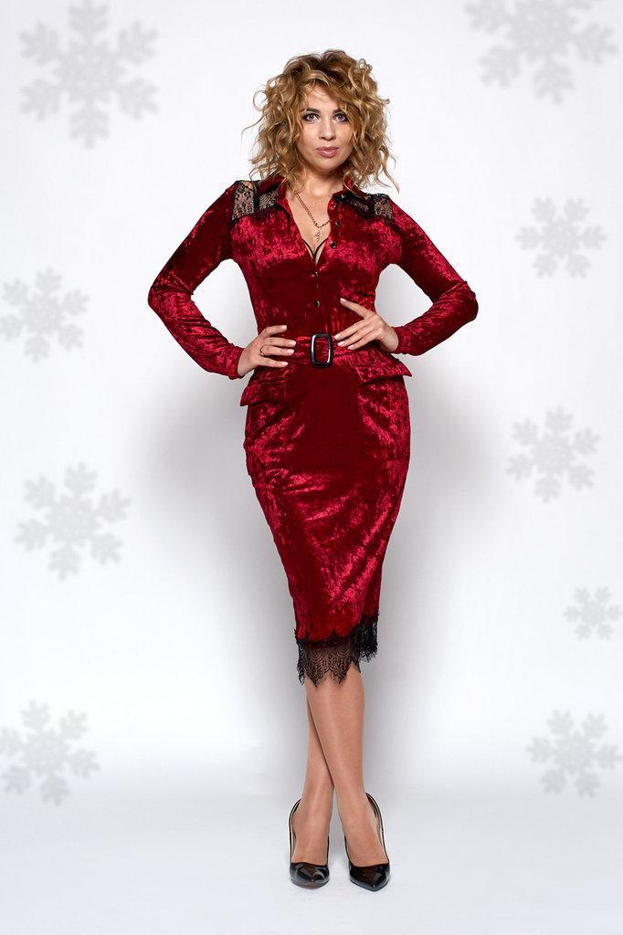 ef7ce607261 Нарядное бархатное платье бордового цвета 0440-3. 465 грн. В наличии