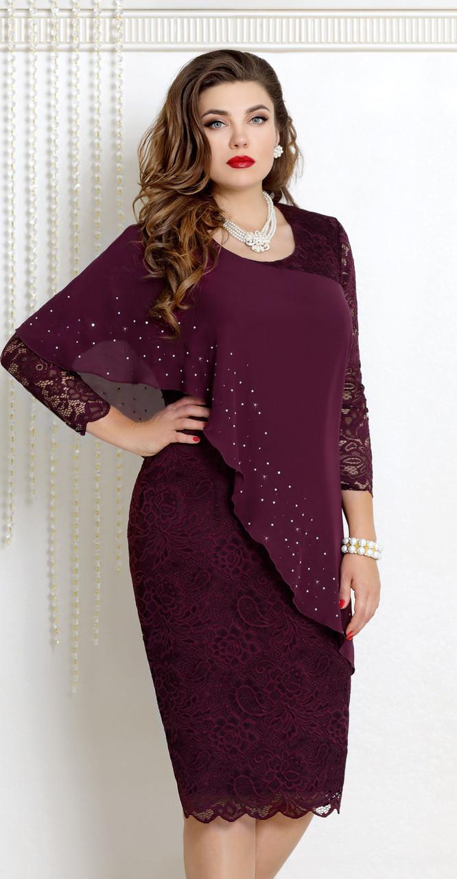 Платье Vittoria Queen-9073/5 белорусский трикотаж, ежевика, 52