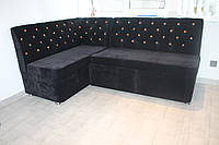 Мягкий уголок на кухню с двумя вместительными ящиками (перламутровый), фото 1