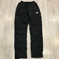 Спортивные штаны Nike / черные / плащевка, утепленные