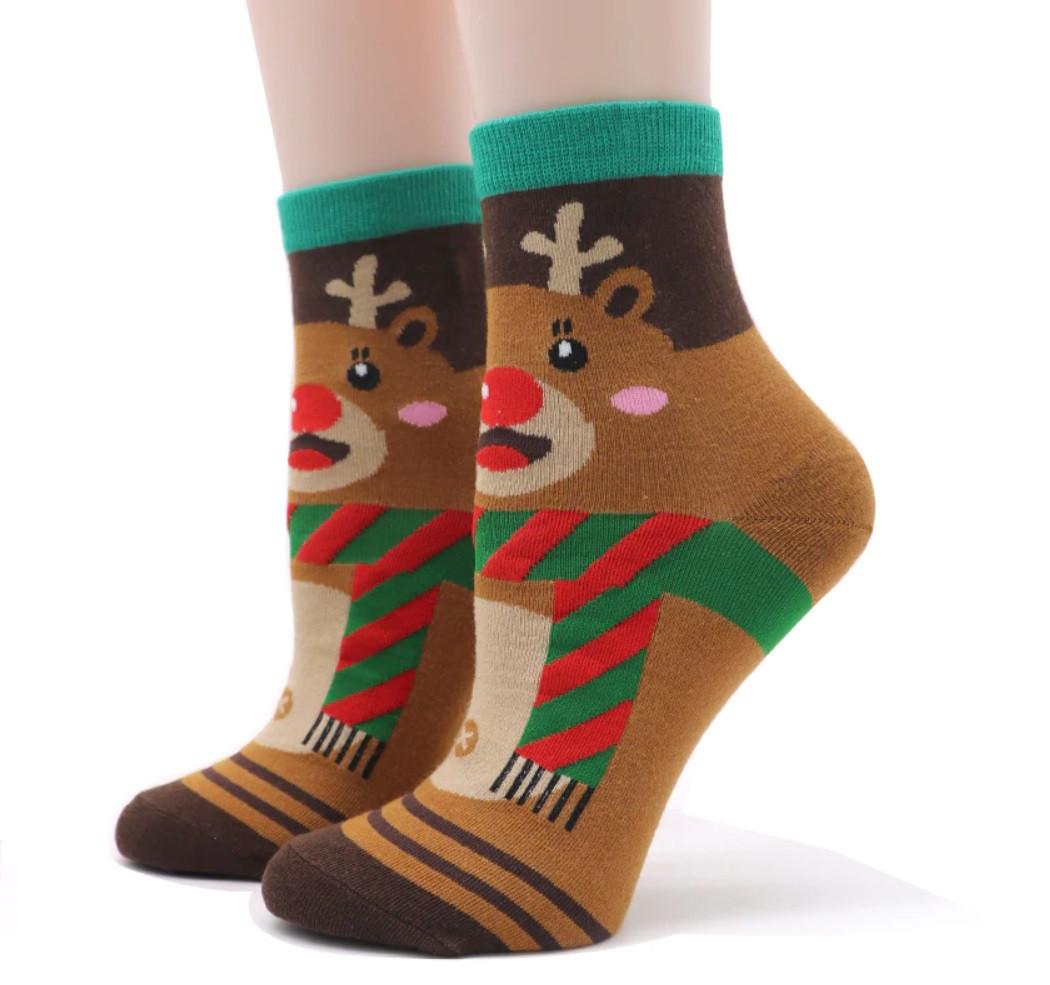 Носки с новогодним принтом для детей и взрослых